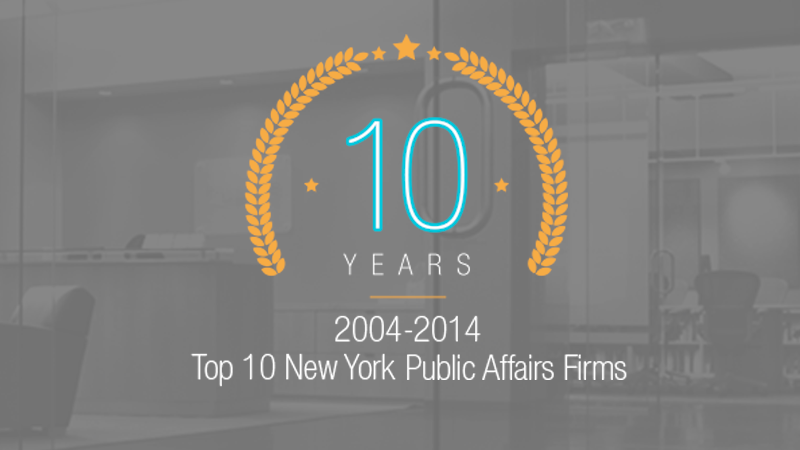 10 Years Strong: 2004-2014 Parkside Group Named Top 10 New York Public Affairs Firm